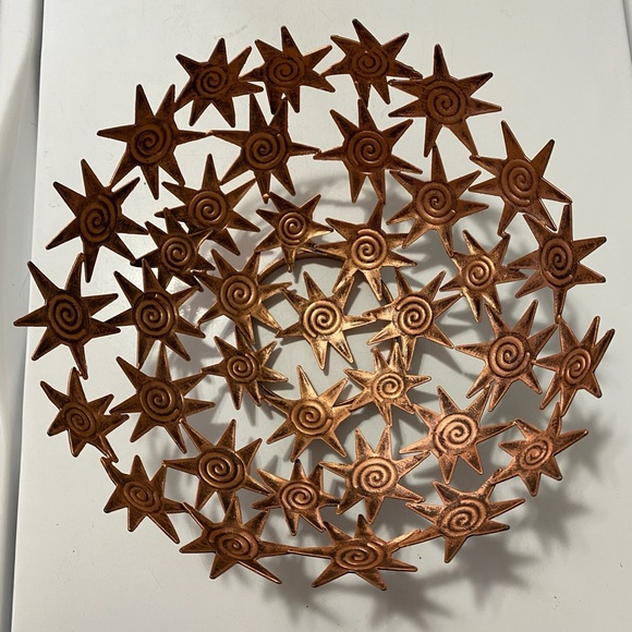 Stunning coppery star bowl